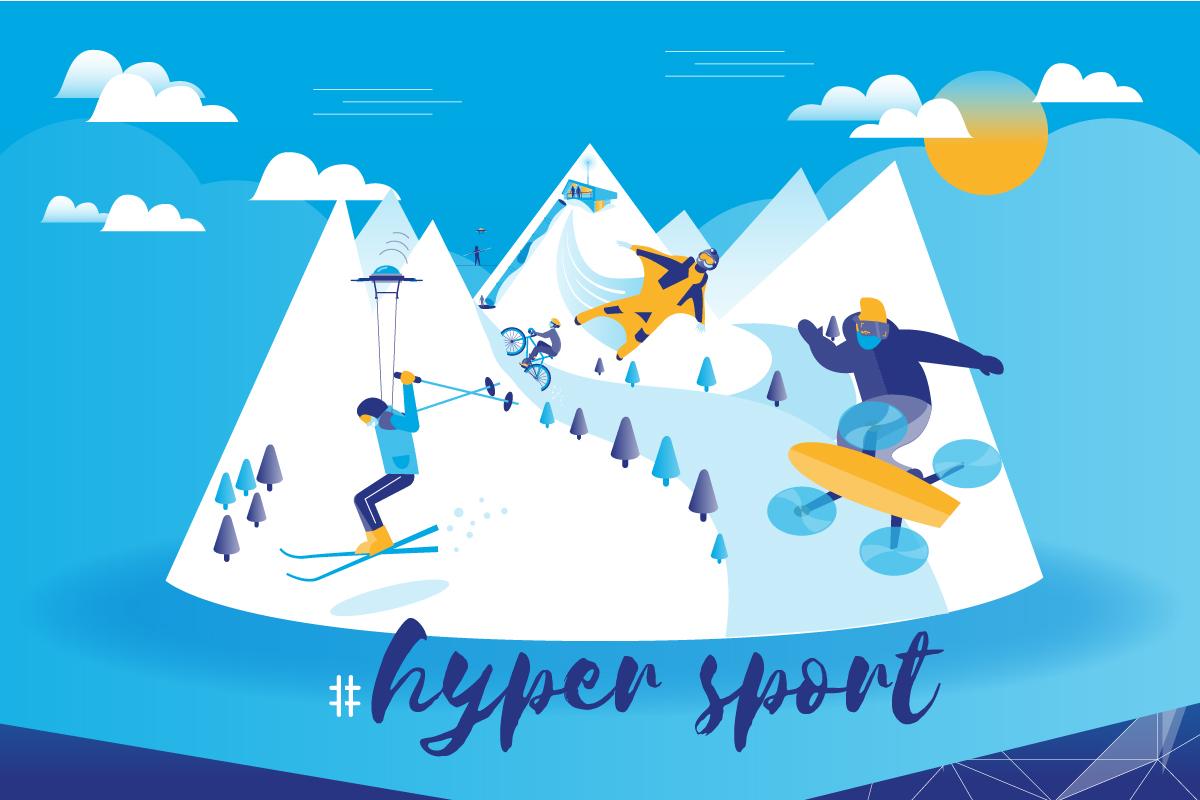 illustration station du futur, tourisme, isère, alpes