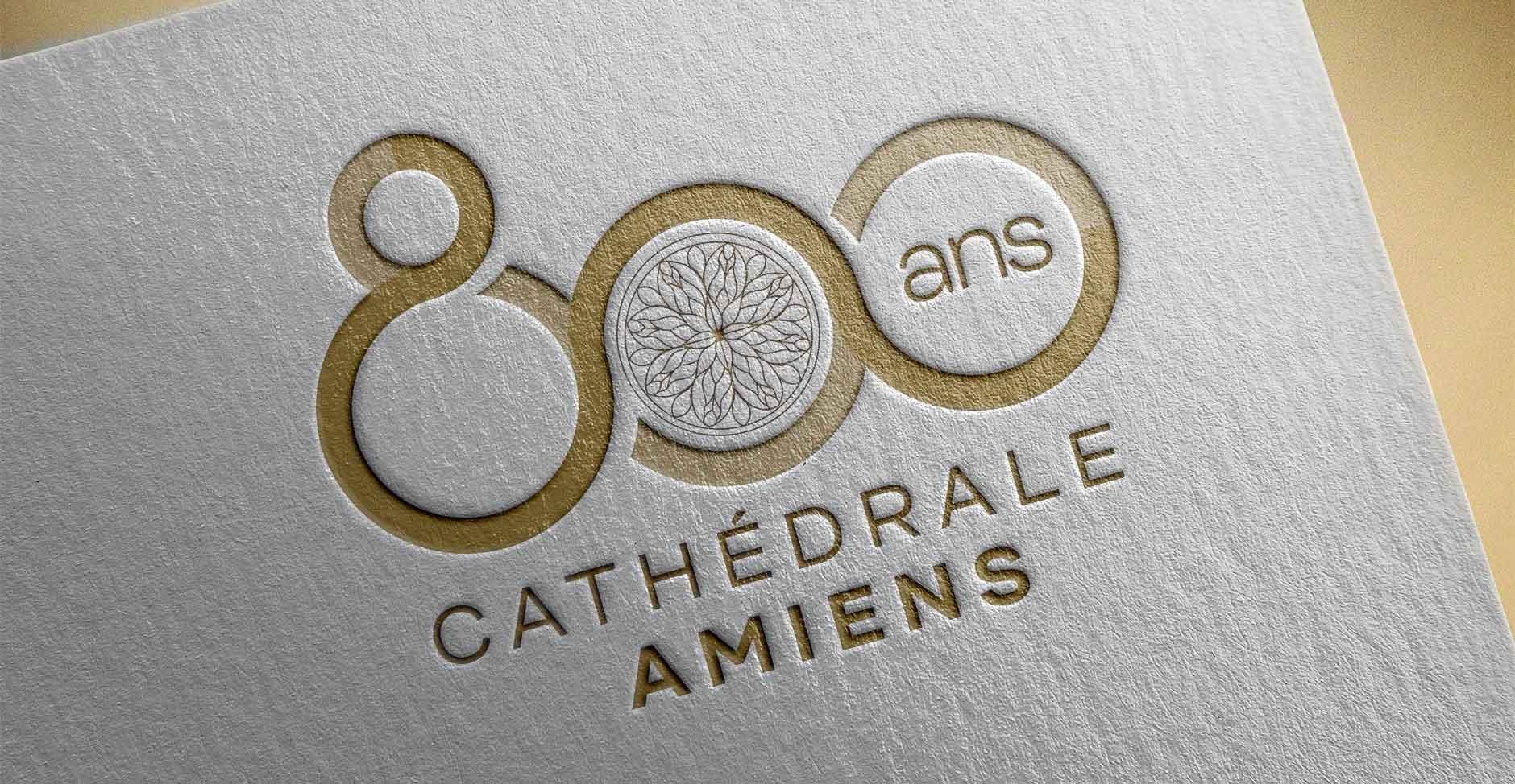 logo 800 ans cathédrale amiens